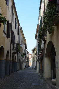 Beautiful cobblestone streets of Padova Italy