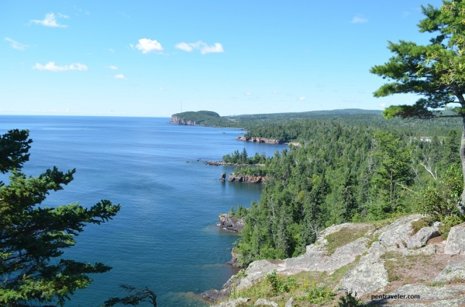 The coastline of Lake Superior, Minnesota