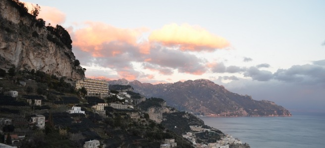 Amalfi view at sunset